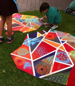 TAGS Art 2016-Building The Mural